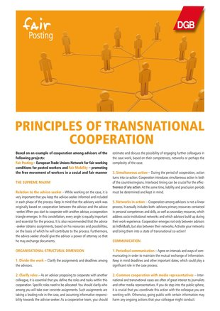Guidelines of Cooperation